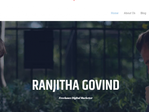 RANJITHA GOVIND, Freelance Digital Marketer